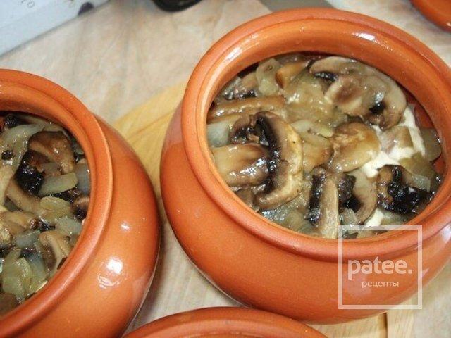 свинина с грибами в горшочках с картошкой рецепт