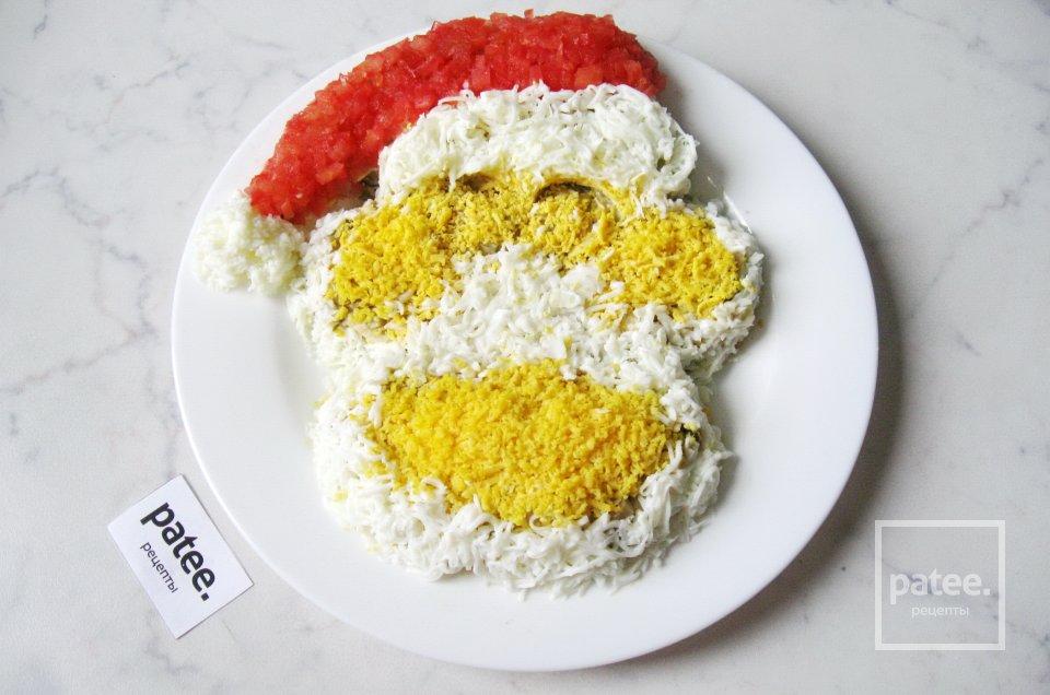 Новогодний салат Обезьянка