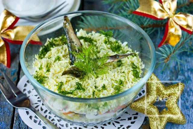 салат рыбка в пруду рецепт с фото