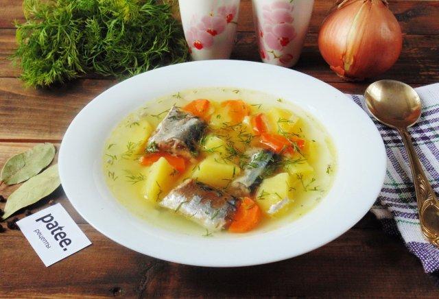 Рецепты супа из консервированной скумбрии — photo 3