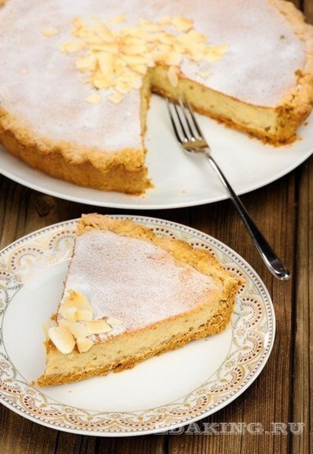Рецепт пирога с творогом и бананами