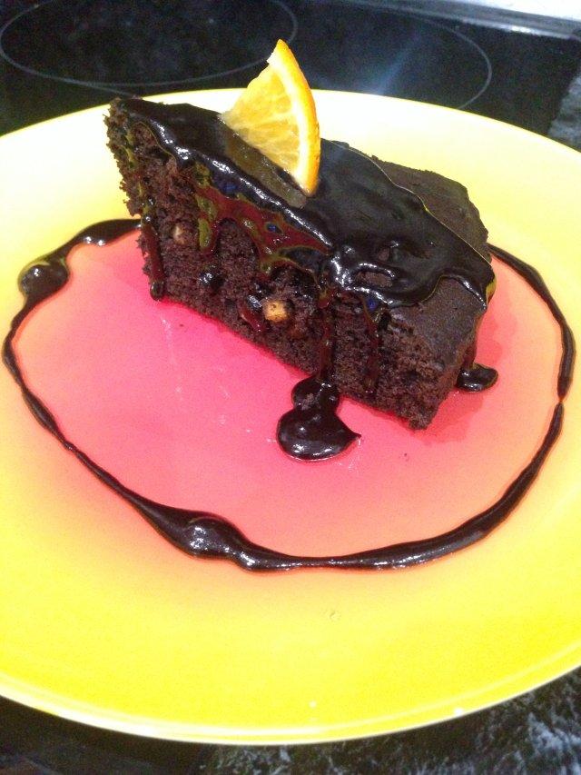Шоколадный пирог с апельсиновой цедрой 🍊