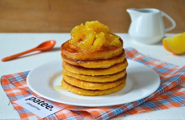 Тыквенные панкейки с апельсином
