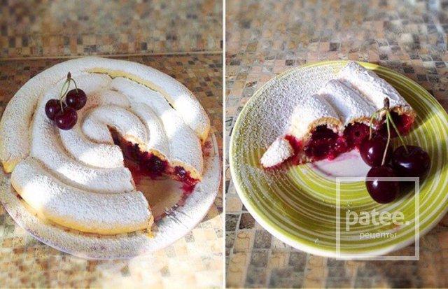 Пирог улитка с вишней