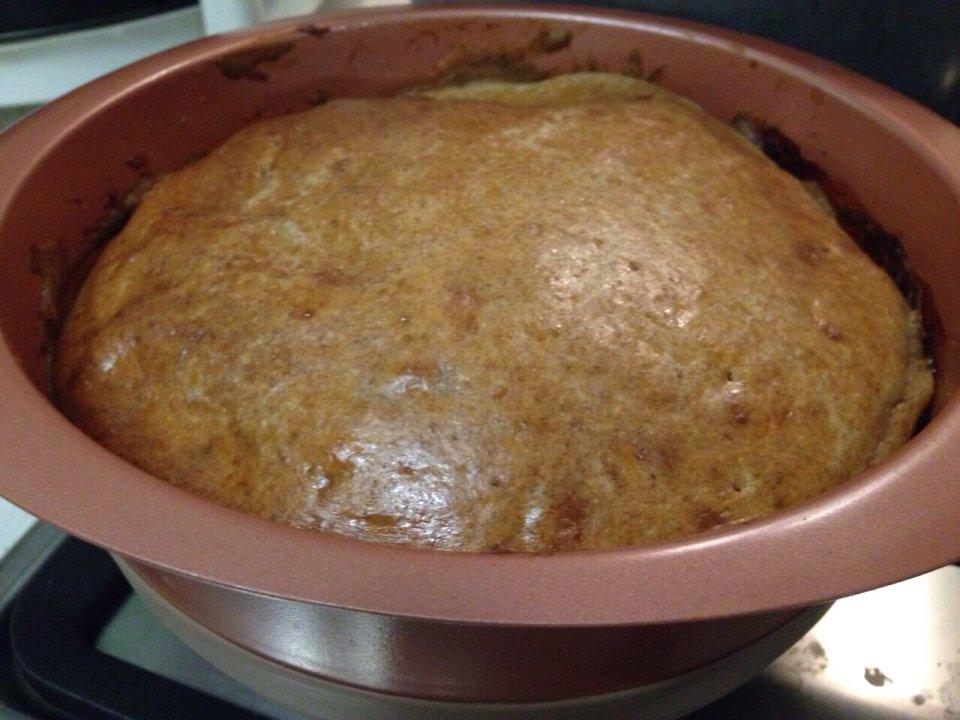 Диетический ржаной пирог с капустой