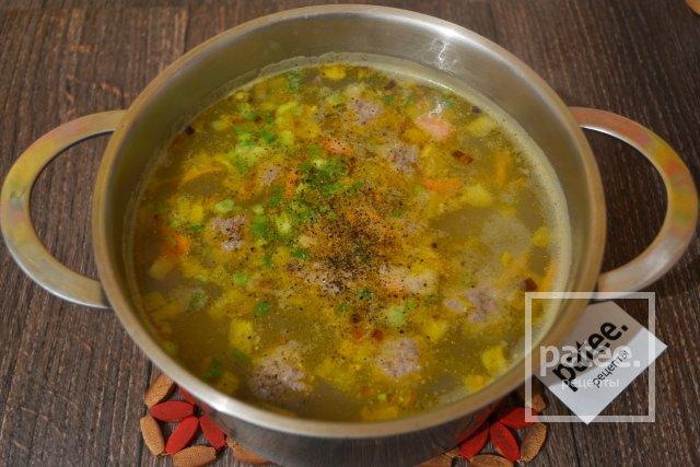 суп с фрикадельками бжу