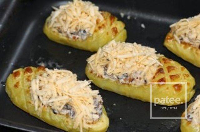 """""""Лапти"""" из картофеля с грибочками"""