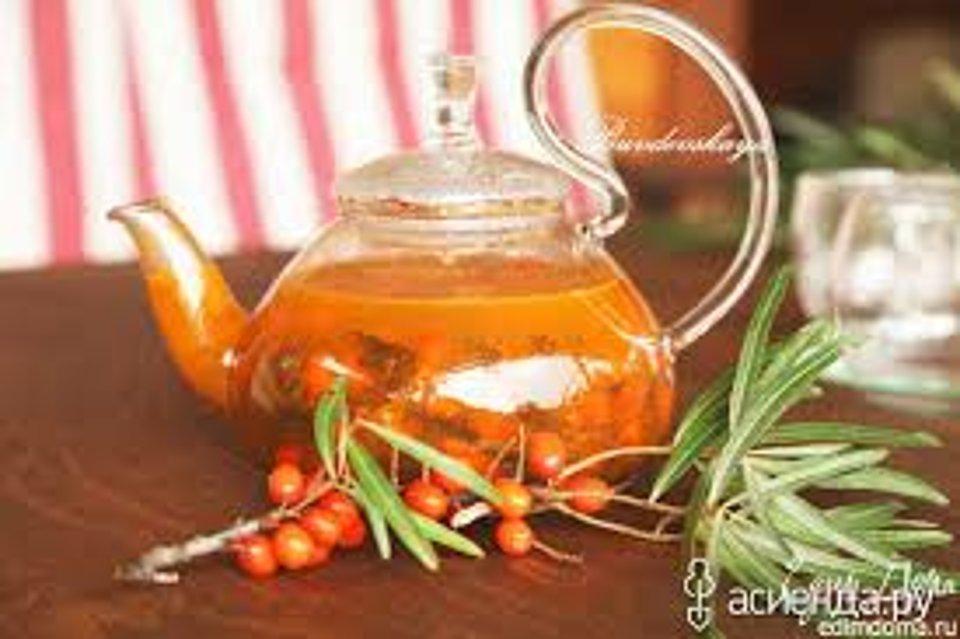 Облепиховый чай с апельсином, имбирем и мятой