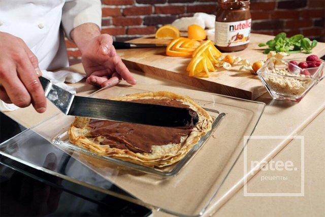 Блинный торт с Nutella