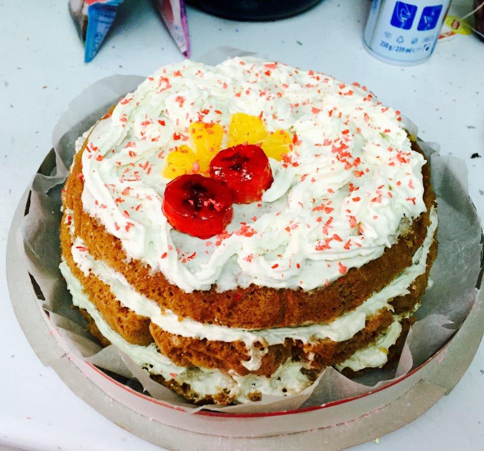Бисквитный воздушный торт