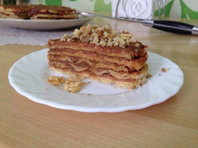 Диетический вафельный торт с пп сгущенкой