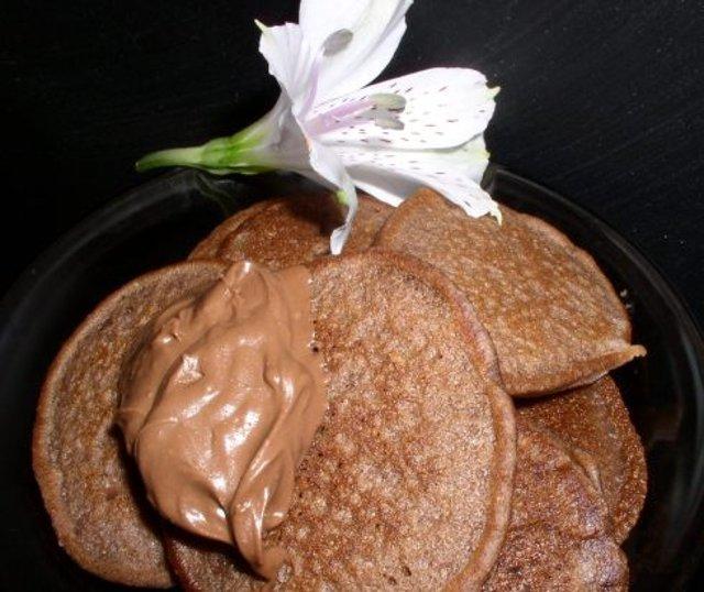 Шоколадно - кофейные оладьи