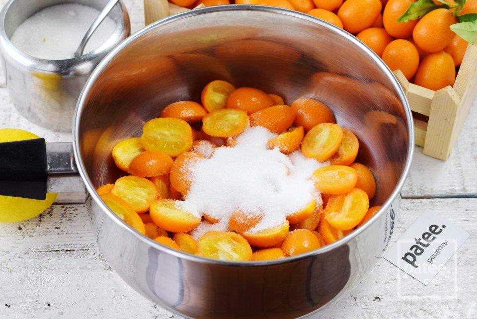 Кумкват в сиропе с ванилью и имбирем