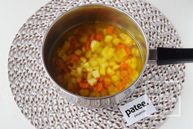 Постный овощной суп-пюре из кукурузы