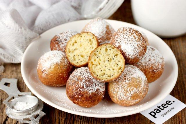 пончики с маком рецепт
