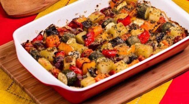рецепты овощи запеченные в духовке