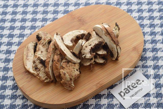 Постное рагу из грибов и фасоли