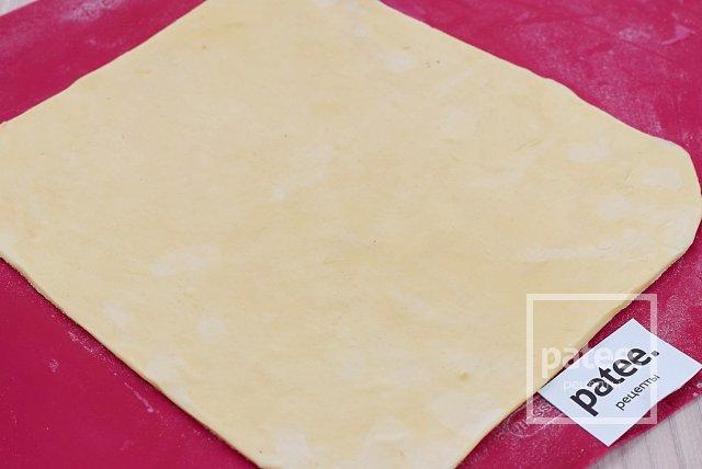Быстрый пирог с тыквой и копченостями из слоеного теста