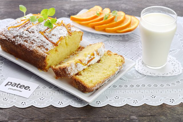 Постный цитрусовый пирог
