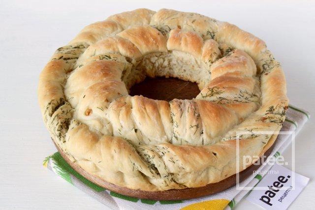 Хлеб Чесночный венок