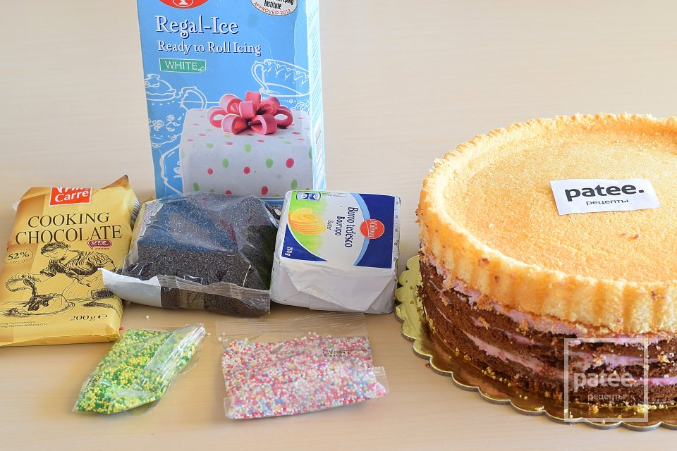 """Торт """"Пасхальная корзина"""""""