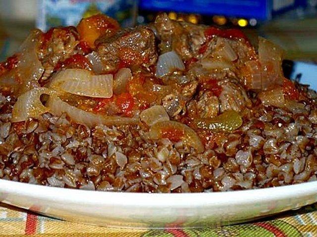 гречка с мясом тушеная рецепт