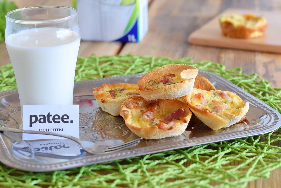 Закусочные корзинки из тостового хлеба