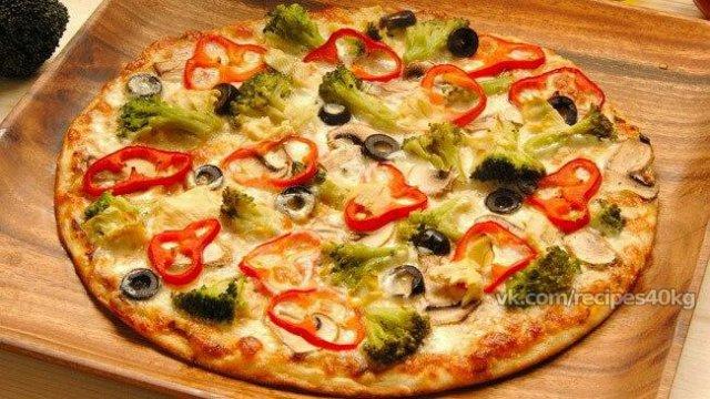 Супер вкусная и низкокалорийная пицца для худеющих