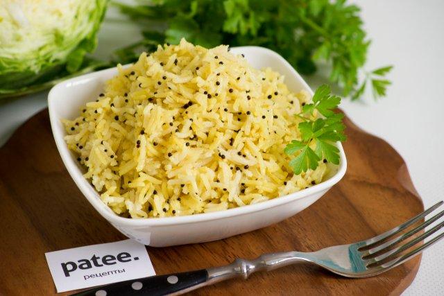 Рис басмати с семенами черной горчицы