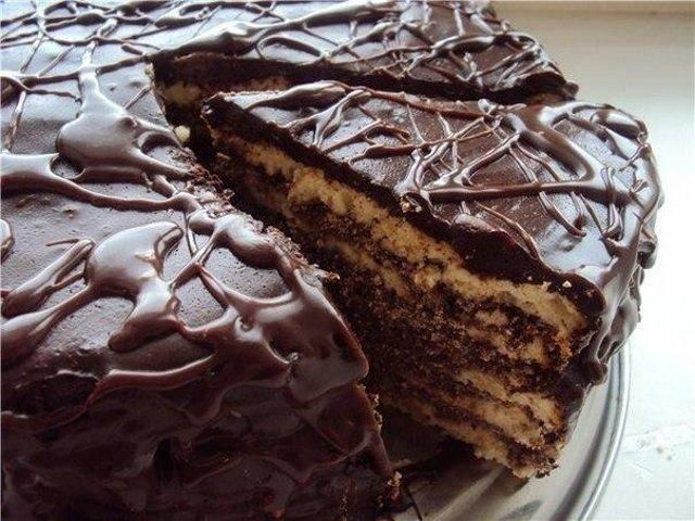 торт черный граф рецепт