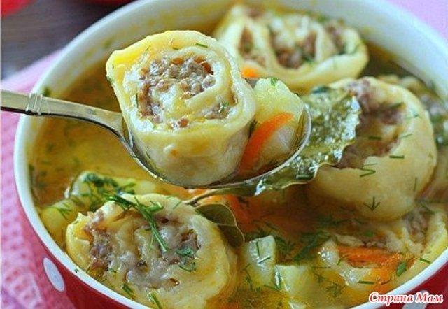 суп с ленивыми пельменями рецепт