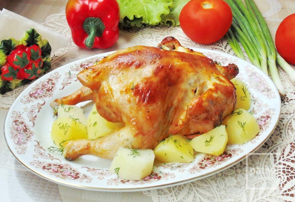 Курица запеченная на банке