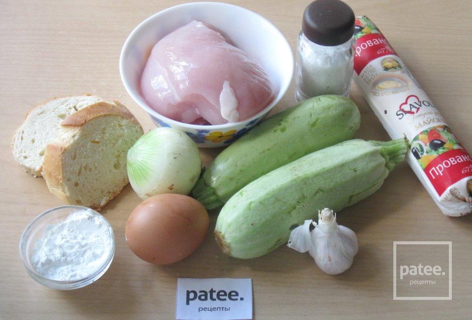 Нежная запеканка из кабачков и куриного филе