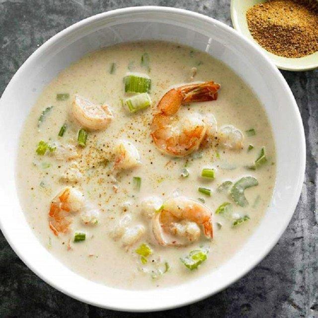 рецепт сырного супа с креветками с фото