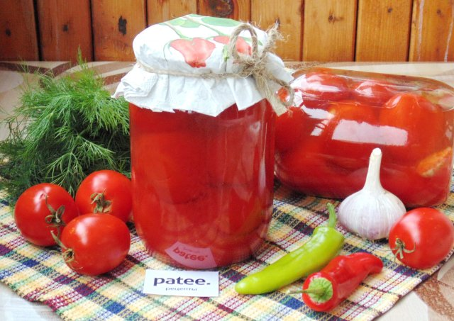 Маринованные помидоры в томатном соке на зиму