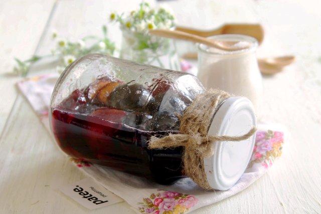 Сливы в собственном соку с сахаром на зиму