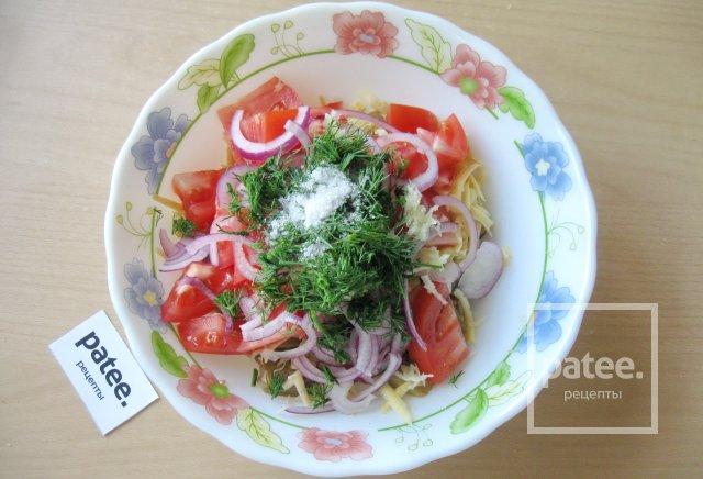 Салат из баклажана с помидором