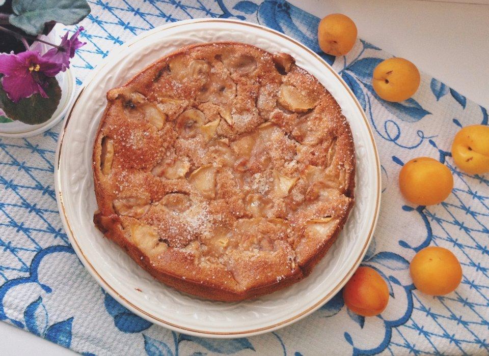 Фруктовый пирог с заливкой🍏