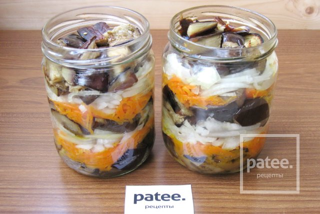 Салат из баклажанов с морковью и луком на зиму