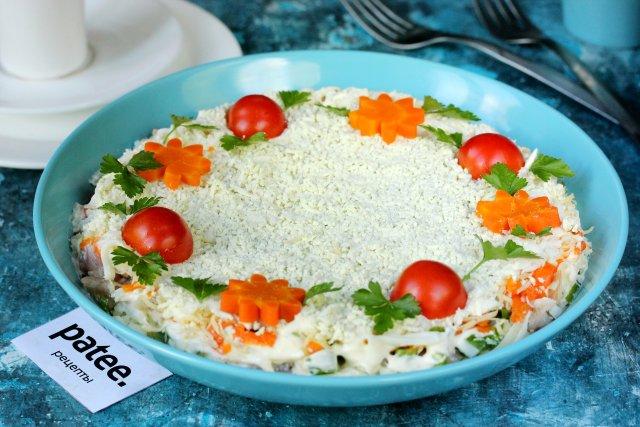 салат из копченого леща рецепт