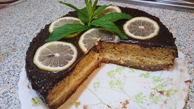 бисквит лимонный со сметанным кремом рецепт