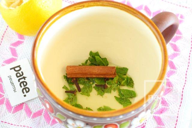 Пряный чай с яблоком, имбирем и цитрусами