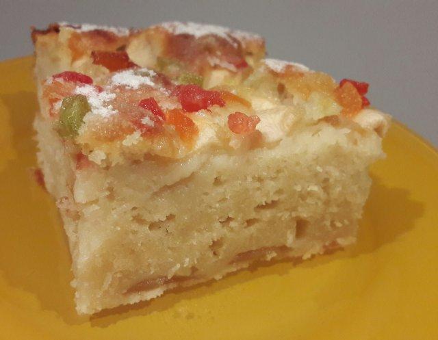Яблочный пирог на молоке.