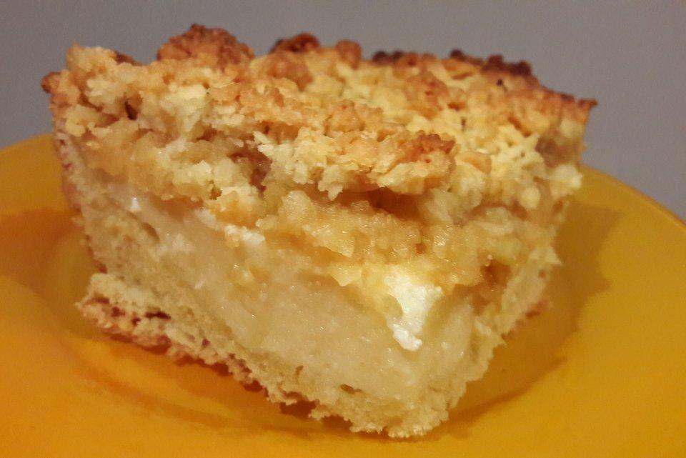 """Творожно-яблочный пирог """"Лакомка""""."""