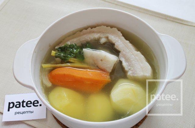 Паштет печеночный с овощами и свиной грудинкой