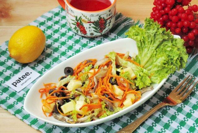 Салат с моцареллой и грибами