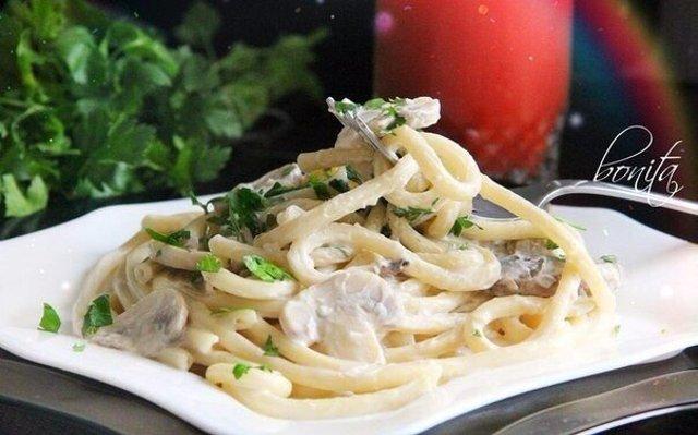 Соус с грибами и сливками для спагетти