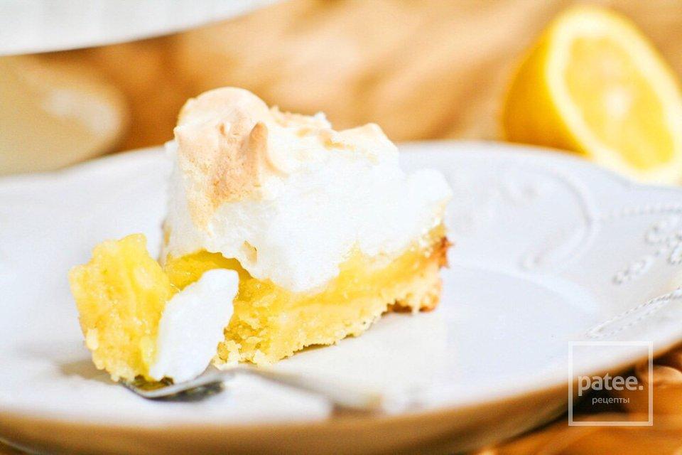 Лимонный пирог с меренгой.