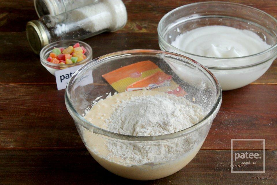 Кексы с цукатами и кокосовой стружкой