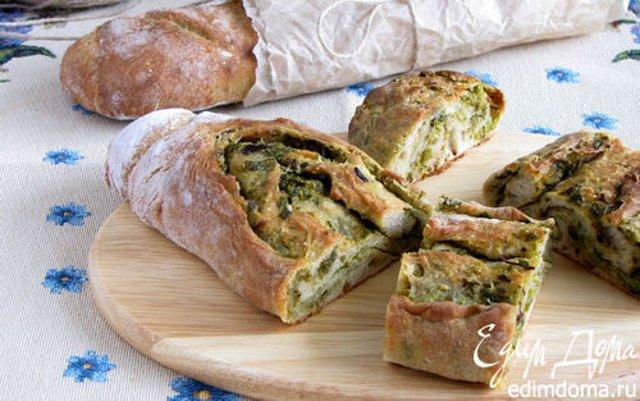 Багеты с оливками и зеленью